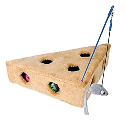 Trixie 4505 Cat's Cheese with Dangling Toy and 3 Play Balls 36 x 8 x 26 cm / 26 cm