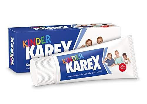 Kinder Karex Zahnpasta, 2 x 50 ml - Moderner Kariesschutz mit Hydroxylapatit | Ohne Fluorid | Ab dem ersten Zahn