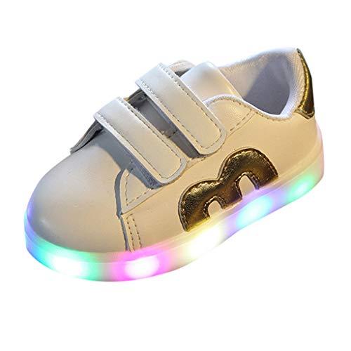 Lauflernschuhe Fliegendes Weben Schuhe Mesh Atmungsaktiv Sportschuhe Freizeit Krabbelschuhe,Kleinkind-Kind scherzt atmungsaktive LED leuchtende Sportschuh-Turnschuhe des Baby-Ineinander greifen