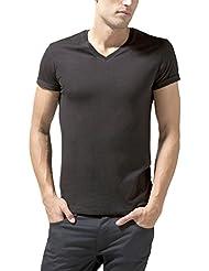 Celio - T-shirt - Uni - Col V - Manches courtes - Homme