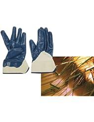GANTS NITRILE BLEU JERSEY GRIS - Taille XL (10) - Perel - SWG15