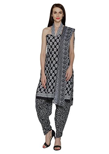 Fashion Polyester Straight Printed Unstitched Suit