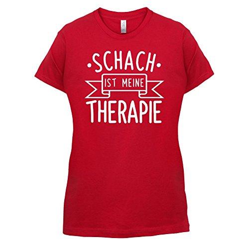 Schach ist meine Therapie - Damen T-Shirt - 14 Farben Rot