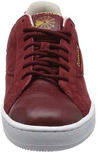 Reebok Herren Npc Uk Ii Nubuck Sneakers Rot (Merlot/White/Sand Stone/Rbk Brass)
