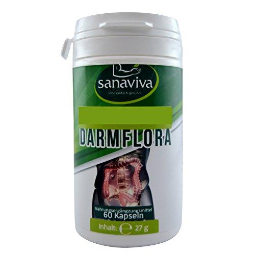 Darmflora 60 Kapseln mit probiotischen Kulturen zur Darmsanierung, Darmreinigung, als Darmkur oder zum Aufbau Ihres Darm nach einer Antibiotikabehandlung. Hergestellt in
