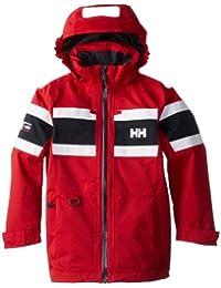 Helly Hansen JR Salt Jacket - Chaqueta para niños, color rojo, talla 176/16