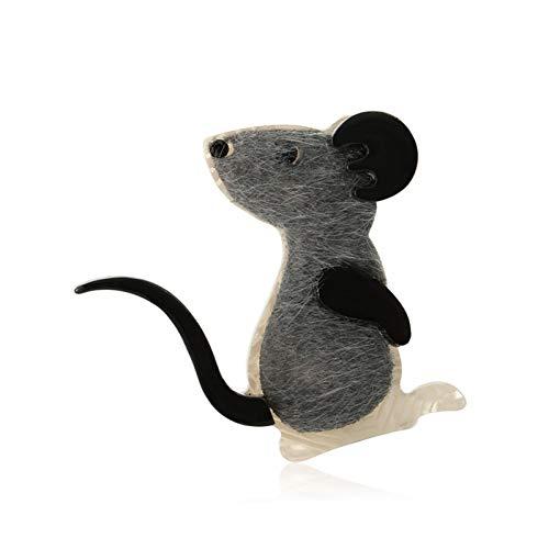 CYTCYAZHOU Brosche Tier Maus Broschen Kunstleder Acryl Pins Für Frauen Männer Pullover Revers Zubehör Täglich Ornamente Corsagen -