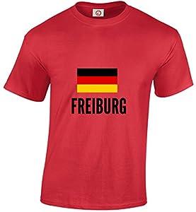 T-shirt Freiburg city Red