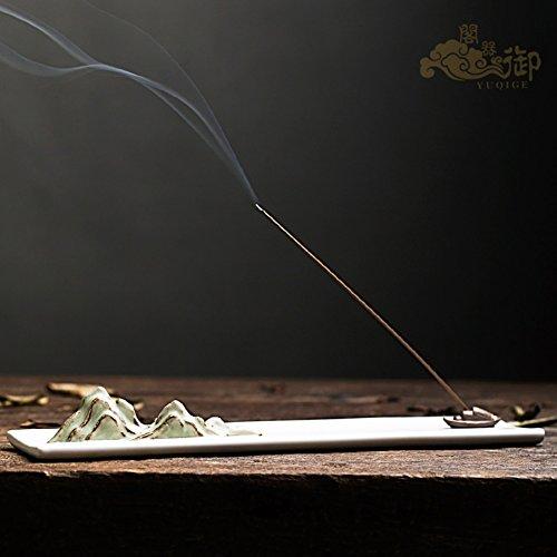 DW HCKK Creativo cerámica Incienso del palillo insertado Estilo japones Dulce Dulce Manual Escultura Estufa del Aroma Retro Incienso-A