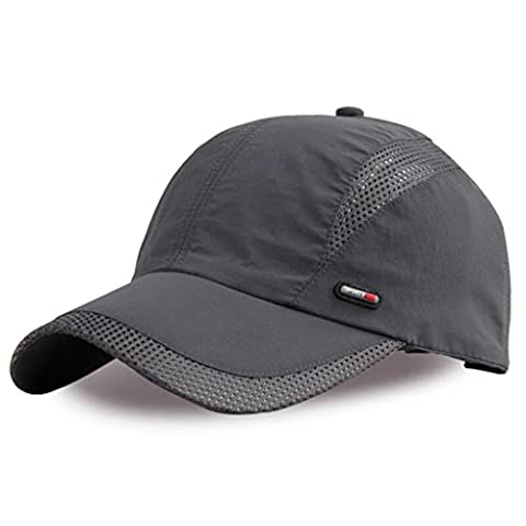 G7Explorer Quick Drying Breathable Hat Outdoor Cap Running Hats (Deep Grey)