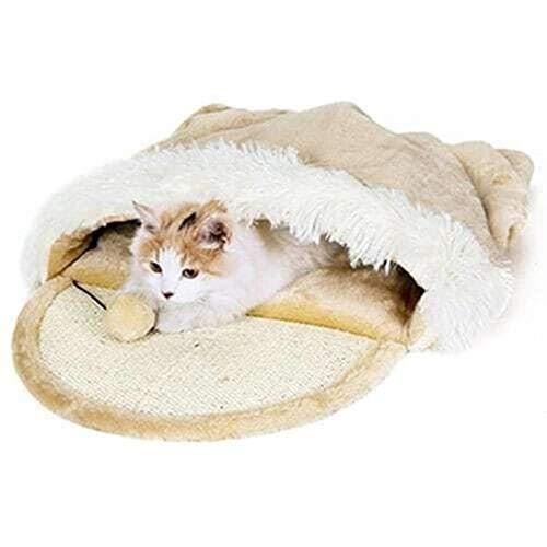 Zamishen Haustier Generisches Haustier Katzenbett Katzenschlafsack Weich Warm Winddicht Haustierbett Haus Für Hund Katze Kätzchen Indoor Outdoor Doppelschicht -