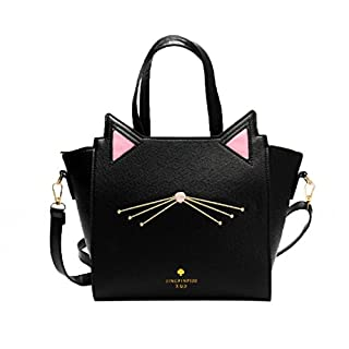 Women Shoulder Bag,Large Capacity Handbag Lovely Women's Cat Ear Shoulder Bag Messenger Bag (one, Black)