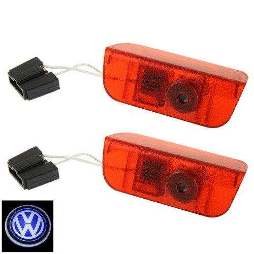Auto Porta Led Laser Benvenuto Luce Decorativa Per Vw, Vw Logo Laser Led (Coppia)