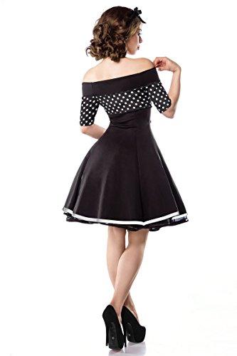 Belsira vestito vintage in stile marinaro, con pois, A50006 schwarz/weiß/dots