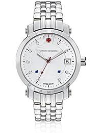 Chrono Diamond 82135 - Reloj para mujeres, correa de metal color plateado