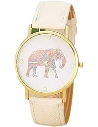 reloj de los mujer , FEITONG Patrón de la moda de las mujeres de piel de elefante Impresión Teje marcación de reloj de cuarzo