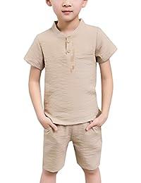 Zhhlaixing Fashion Boys T-Shirt Tops + Shorts Kids Summer Casual Outfits TZ75604