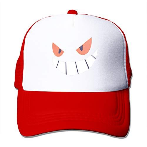 Osmykqe Sommer-Fernlastfahrer-Kappe Baseballkappen Gengar Halloween Face1 groß für im Freiensport