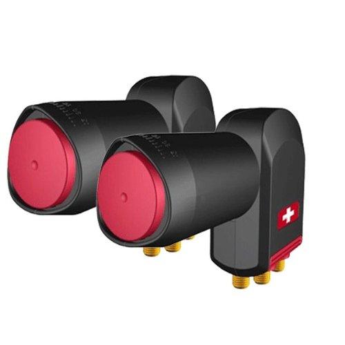 Opticum 2x Red Rocket QUATTRO LNB 0,1 dB 3 Grad Sat Anlage 3° Astra Eutelsat HDTV HD FULLHD 3D SKY