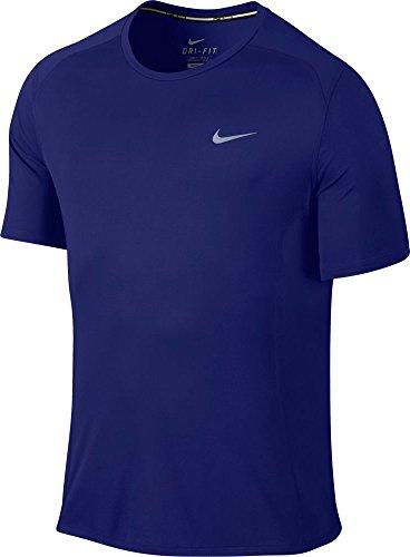 Nike Miler T-Shirt Homme University Red/Reflective Deep Royal Blue/Reflective Silver