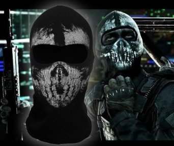 LandPure@ Call of Duty Geister Schädel-Maske Balaclava Hood Ghosts Skull Mask