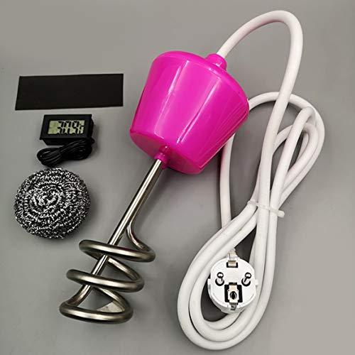 Delicacydex Calentador de Agua con Calentador de Agua para Piscina de 2000W con termómetro - Amarillo...