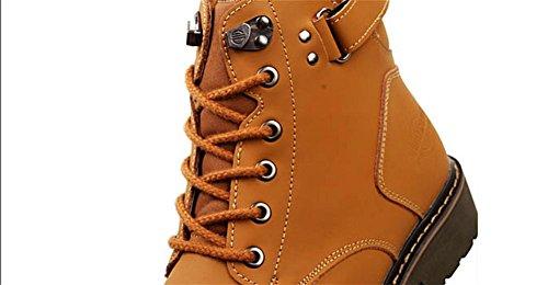 Uomini Tooling Esercito Britannico Caviglia Stivali balestruccio All'aperto Pelle Scarpe Autunno Inverno Tempo libero Confortevole Pizzo Nero Marrone Antiscivolo Light Brown