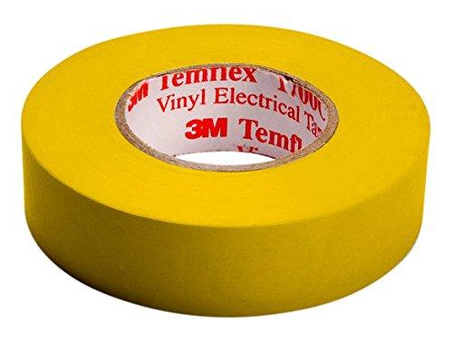 3M TGEL1525 Temflex 1500 Vinyl Elektro-Isolierband, 15 mm x 25 m, 0,15 mm, Gelb