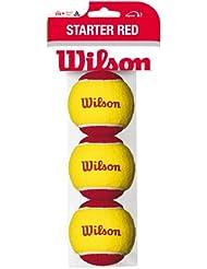 Wilson Tennisbälle, Starter Red, 3er Pack, Gelb/Rot, Für Kinder, WRT137001