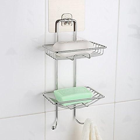 Ventouse puissante Boîte de savon de salle de bain à suspendre Porte Savon Lishui Savon Rack gratuit Grande Punch
