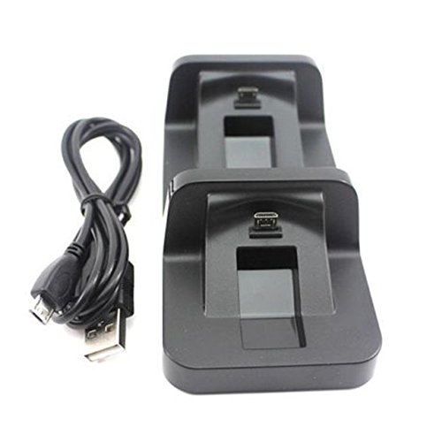 Generic Useful Dual Micro Usb Charger Charging Docking Dock Station Stand For Ps 4 Black Ps4 Video Game Accessories