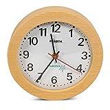 Sauna Uhr Rund, elektrisch/Hitzebeständige Wanduhr für die Saunakabine bis ca. 120 °C