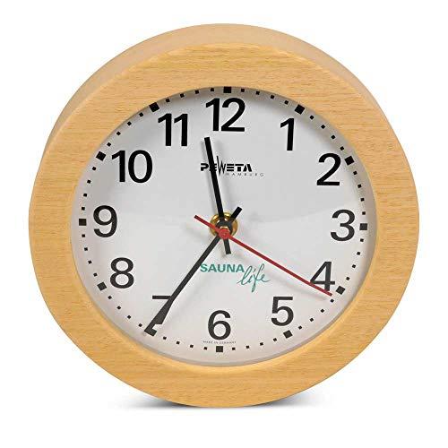 Preisvergleich Produktbild Sauna Uhr Rund,  elektrisch / Hitzebeständige Wanduhr für die Saunakabine bis ca. 120 °C
