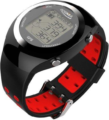 POSMA GT2 Orologio da golf con allenatore personale, telemetro GPS, + tracciante dell\'attivita\' rosso