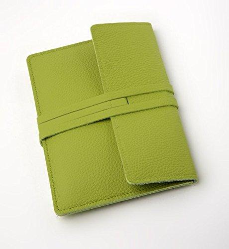 Preisvergleich Produktbild E-Reader-Ledertasche Fifth Avenue - grün: Lederhülle passend für Tolino, Kindle, Sony, Kobo, Pocketbook etc.