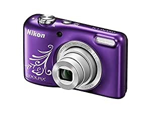 Nikon Coolpix L31 16.1MP Point And Shoot Digital Camera (Purple) with 5x Optical Zoom, 8GB Memory card and case