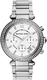 Michael Kors Parker Women's Silver Dial Stainless Steel Analog Watch - MK