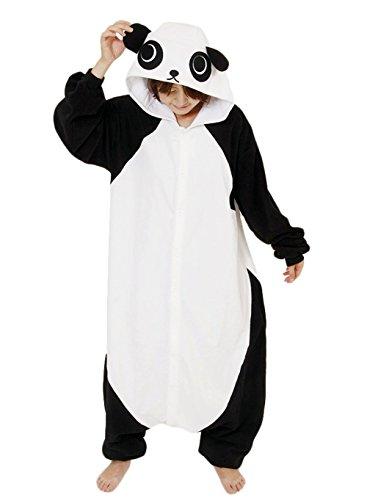Y&L Damen Erwachsene Panda Schlafanzug Nachtwäsche Halloween Cosplay Hoodies Onesies (Panda Kung Fu Für Kostüme Erwachsene)