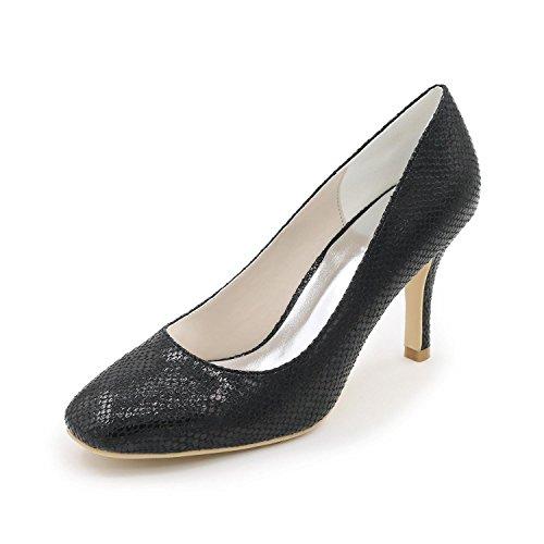 L@YC Chaussures De Mariage Pour Femmes Chaussures à Talons Hauts Cuir / DîNer / FêTe / FêTe / Multicolore / Grande Taille black