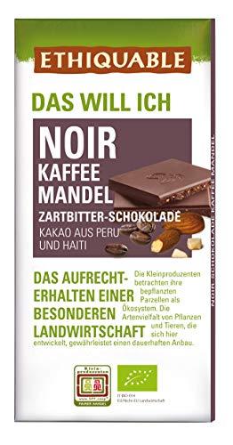 ETHIQUABLE Bio Faire Noir-Schokolade Kaffee Mandel, 10 x 100g