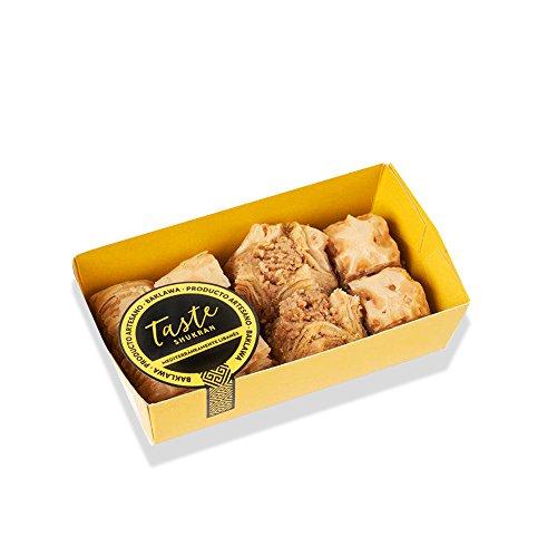 Taste Shukran Baklava Pastel Oriental de Hojaldre y Frutos Secos - 10 Paquetes de 160 gr - Total: 1600 gr