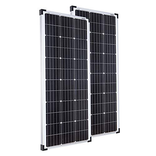 2x Offgridtec® 100W 12V Mono Solarpanele - Solarmodul Solarzelle Photovoltaik