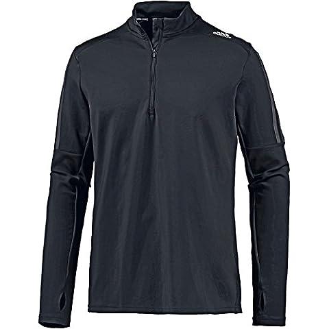 Adidas Rs Ls Zip Tee M Maglietta a Manica Lunga - Nero (Nero/Neguti) - L