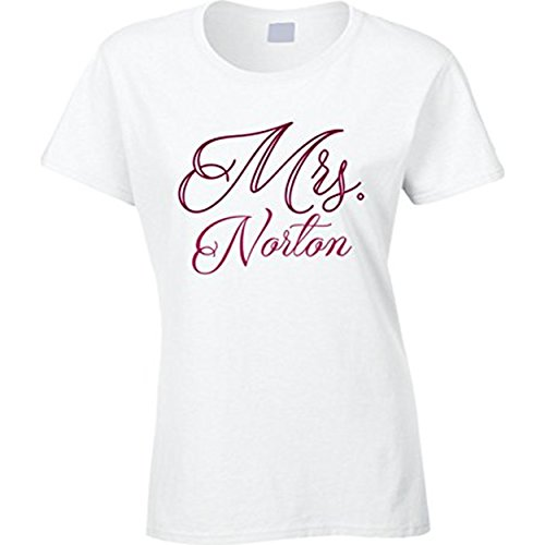Daxie-FU Mrs Norton Last Name Wedding Marriage Bachelorette Party T Shirt