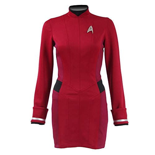CosDaddy® Star Trek Beyond Rot Kleid Cosplay Kostüm US Size (Star Trek Kleider)