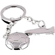 Freessom Porte Clé Clef Homme Garcon Football Chaussure Anneau Personnalisé  Metal Pendentif Original Accessoire de 912e6f86d38