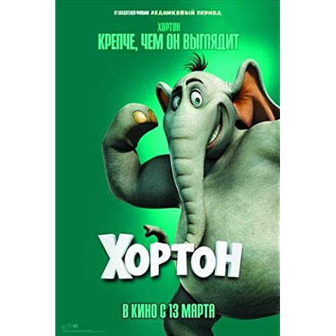 Dr, Seuss' Horton Hears a Who! Cartel de la película 27 x 40 - F ruso 69 cm x 102 cm en Jim Carrey Steve Carell Isla Fisher Dane Cook Jonah