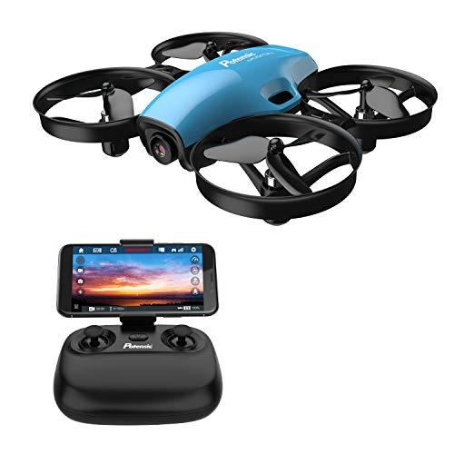 Potensic Drone con cámara HD, Quadcopter 2.4G 6 Ejes Control Remoto, Altitude Hold, Modo sin Cabeza, Plantear Ruta, Un Botón de Despegue / Aterrizaje, A30W Azul