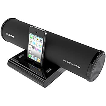 azatom house dance black ipod iphone ipod touch and nano docking station speaker produces 24 watts of high quality sound great vocals and deep bass