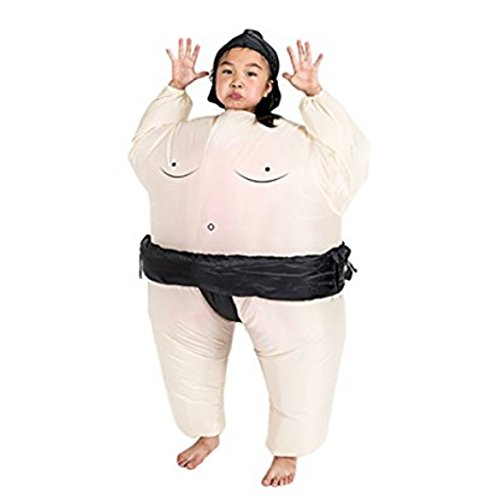Lydreewam Inflatable Halloween Party Suit Christmas Party Gift Present Sumo Wrestling Fat Suit Costume